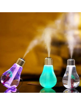 Usb Ultrasonic Humidifier Home Office Mini Aromatherapy Colorful Led Night Light Bulb Bottle by Newchic