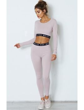 Chloe Long Sleeve Crop Ash Mauve by White Fox