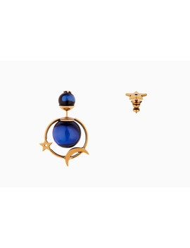 Dior Tribales Earrings In Gold Tone Aged Metal by Dior