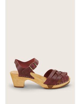 Sandal Mid Heel   Betty Flex   Red / Burgundy by Monshowroom