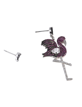 Jirab Asymmetric Diamante Bird Earrings   Pair by Jessica Buurman