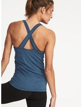 Fitted High Neck Built In Bra Performance Tank For Women by Old Navy