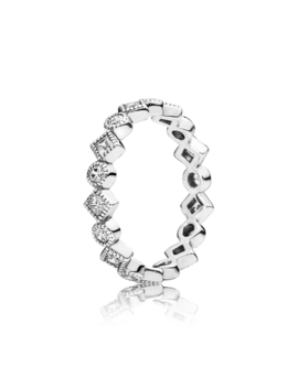 Alluring Brilliant Princess Stackable Ring, Cz by Pandora