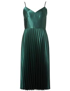 **Luxe Green Pleated Camisole Dress by Dorothy Perkins