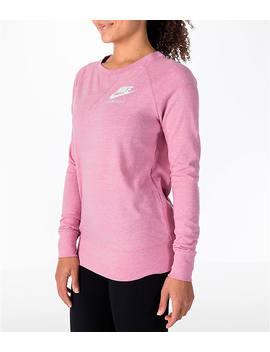 Women's Nike Sportswear Gym V Intage Crew Sweatshirt by Nike