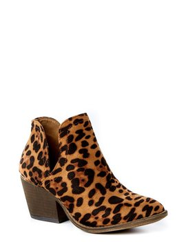 Dedicated To You Leopard Ankle Booties by Liliana