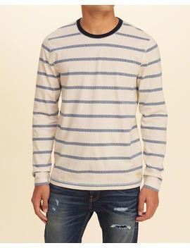 Stripe Jacquard Crew T Shirt by Hollister