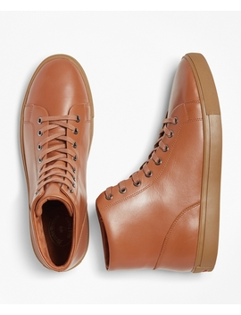 Leather High Top Sneakers by Brooks Brothers