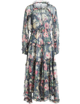 Iris Printed Silk Chiffon Dress by Zimmermann