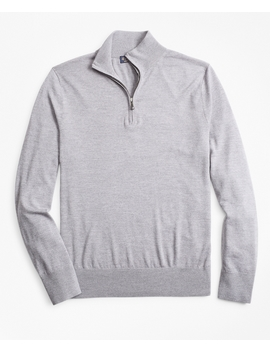 Brooks Tech™ Merino Wool Half Zip Sweater by Brooks Brothers