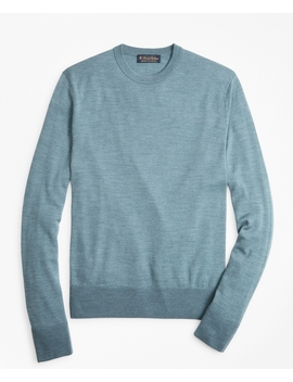Brooks Tech™ Merino Wool Crewneck Sweater by Brooks Brothers