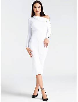 Long Button Sleeve Dress by Guess
