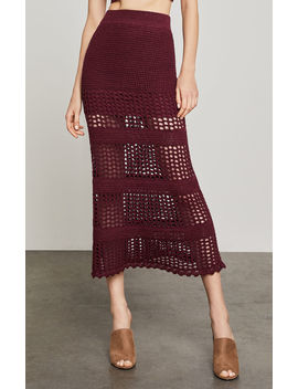 Crochet Midi Skirt by Bcbgmaxazria
