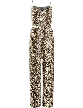 Leopard Print Strappy Jumpsuit by Dorothy Perkins