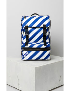 Large Striped 'hyper Kenzo' Backpack by Kenzo