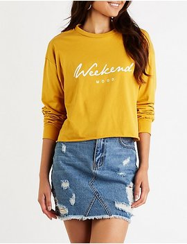 Weekend Mood Top by Charlotte Russe
