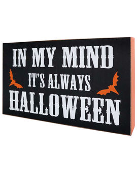 Wood 'in My Mind' Black Sign 12 In. by At Home