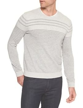 Stripe Crew Neck Pullover Sweater by Banana Republic Factory