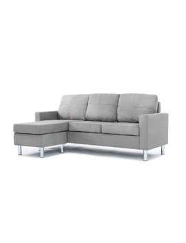 Modern Microfiber Sectional Sofa   Small Space Configurable Couch by Divano Roma Furniture