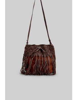 Leather Bag With Fringe by Springfield