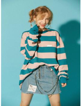 [Unisex] Bubp Stripe T Shirt Pink by Bubp