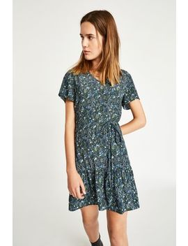 Launders Printed V Neck Dress by Jack Wills