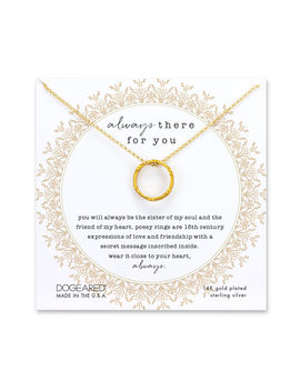 Always There Poesy Ring Necklace by Dogeared