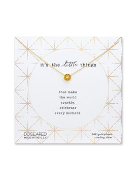 It's The Little Things Circle Necklace by Dogeared