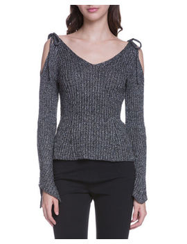 Cold Shoulder Ribbed Sweater by Endless Rose