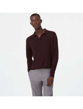 Lux Merino Johnny Collar Polo by Club Monaco