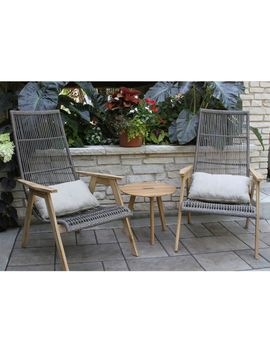 Wicker Teak Chairs, Set Of Two by L.L.Bean
