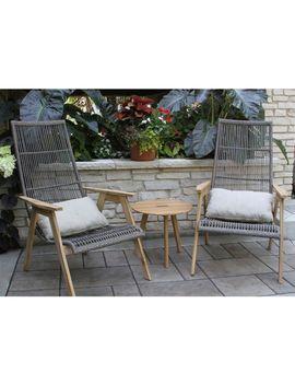 Wicker Teak Chairs, Set Of Two by L.L.Bean