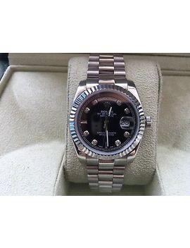 Rolex Datejust<Wbr> Diamonds Stai<Wbr>Nless White Go<Wbr>Ld Mens Watch by Ebay Seller