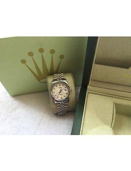 Rolex Mens 41m<Wbr>M 18kt White G<Wbr>Old Ss Date Jus<Wbr>T Ii White by Ebay Seller