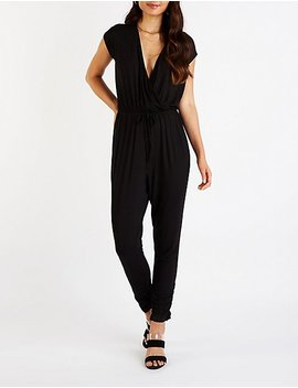 Dolman Sleeve Jogger Jumpsuit by Charlotte Russe