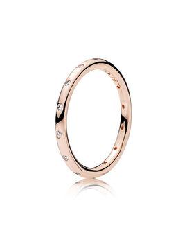 Droplets Ring, Pandora Rose™ & Clear Cz by Pandora