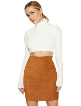 Gone This Suede Skirt by Naked Wardrobe