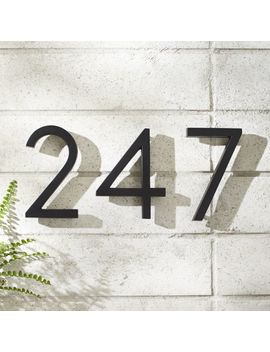 "Aurele 6"" Matte Black House Numbers by Crate&Barrel"