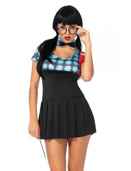 Sexy Blue 4 Pc. Naughty Nerd Costume by Ami Clubwear