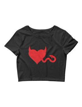 Devil In Disguise Crop Top by Tunnel Vision