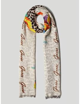 Animalier Print Scarf by Guess