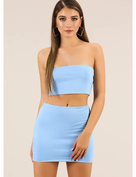 Perfect Match Tube Top And Skirt Set by Go Jane