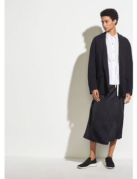 Drape Panel Silk Skirt by Vince
