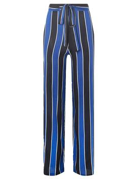Blue Striped Palazzo Trousers by Dorothy Perkins