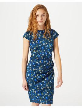 Falling Petal Ruched Bodycon Dress by Jigsaw