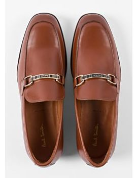 Men's Tan Leather 'grover' Loafers by Paul Smith