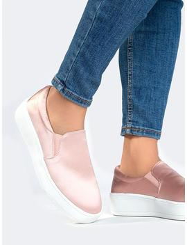 Satin Slip On Sneaker by Zooshoo