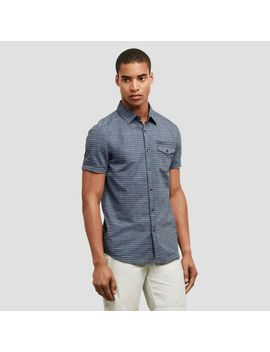 Horizontal Striped Button Front Shirt by Reaction Kenneth Cole