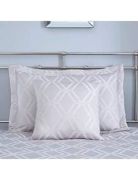 Geo Grey Jacquard Square Cushion by Dunelm
