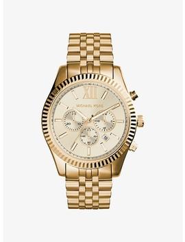Lexington Gold Tone Watch by Michael Kors